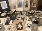 43+Antique+Photos+Portraits+%26++Family+Cabinet+Frames++%7E+Large+Lot+