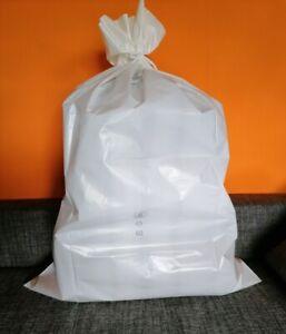 250 Müllsäcke, Abfallsäcke WEISS 57 x 100 cm, 575 x 1000 mm, T60, RESTPOSTEN