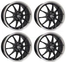 17x7 Enkei J10 5x108/115 38 Black Paint Wheels Rims Set(4)