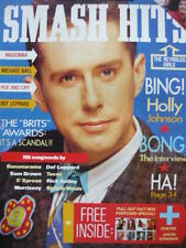 SMASH HITS 22/2/89 - HOLLY JOHNSON - MADONNA - DEF LEPPARD