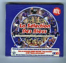 2 CDs (NEUF)FOOTBALL ALLEZ LES BLEUS(J.HALLYDAY AKHENATON THE DOORS REM MADONNA)
