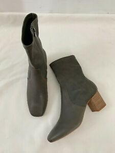 Silent D Josie Ankle Boots Size 39 Charcoal Grey Booties