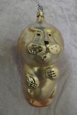 Russian Christmas Glass Ornament Yellow Lion Грозный Лев