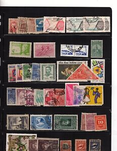 BRAZIL stamps collection dealer stock  1150 stamps  used mh (mb17