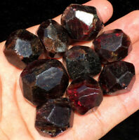 108g 9PCS New Find Raw Natural Rare Garnet Crystal Specimens sl009