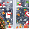 Merry Christmas Window Wall Sticker Decal Santa Claus Snowflake Home Xmas Decor