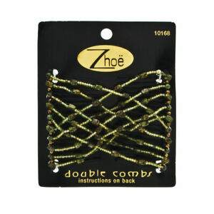 Zhoe Double Hair Combs 10168 Forest Brand New