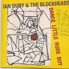 Ian Dury&The Blockheads-Dance Little Rude Boy cd single written on back of the c