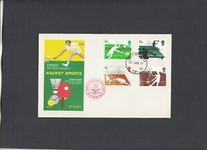1977 Racket Sports Philart FDC Forces Post Office 121 CDS. 1 of 150 covers
