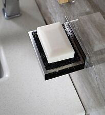 Wall Suction Cup Bathroom Bath Shower Soap Dish Holder Basket Stainless Steel US
