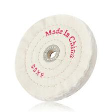 150mm 6 Spiral Stitched Cotton Buffing Polishing Wheel Mop Bench Grinder 1pcs
