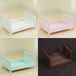 Wood Bed Newborn Accessories Crib Posing Baby Photography Studio Props Infant