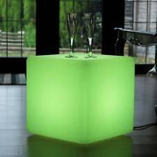 40cm Mains Powered RGB LED Cube Stool Light + Remote by PK Green