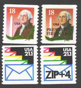 US. 2149, 2149a, 2150, 2150a. Lot of 4 Coils. Mint. NH. 1985