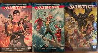 Justice League DC Comics Deluxe Rebirth Hardcover Books 1-3