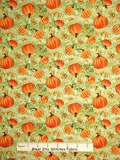 Fall Fabric -Grateful Harvest Pumpkin Patch Butterfly Toss SPX Spectrix - Yard