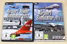 2 PC SPIELE SAMMLUNG AIRPORT TOWER SIMULATOR 2012 AIRPORT 2013 -- FLUGHAFEN ATC