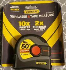 General Tools Ltm1 2 In 1 Laser Tape Measure Lcd Digital Display 50 Laser Me