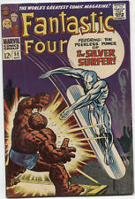 Fantastic Four #55~ 4th Silver Surfer! Signed by Joe Sinnott!1966 (FN+) WH