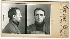 Identité judiciaire - fiche anthropométrique d'un criminel. En 1948