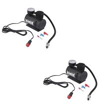 2 PACK 300PSI Portable 12V Mini Air Compressor Emergency Car  Tire Inflator NEW