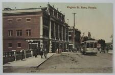 Virginia St Reno NV Trolley Streetcar For Mott Stationary Hand Tinted Postcard