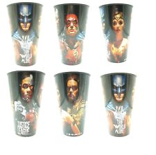 JUSTICE LEAGUE Plastic tumblers cups party summer fun batman - New x6