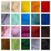 50G Carded Perendale Wool for Needle Felting Single Colours Wool Batting Batts