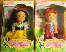 """2 Little Princess 4""""Dolls  New in Packaging!"""