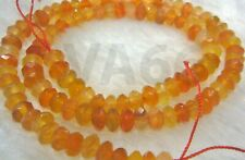 DIY Natural Orange Mixed Agate Facetted Rondelle Donut Gemstone Disc Batu Asli