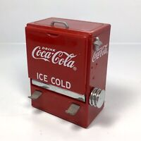 """VTG Coca Cola Toothpick Dispenser 1995 Advertising Collectible 4"""" Red Cooler"""