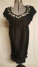 NWT Mimi Maternity black floral dress Silk Medium M Spring Summer
