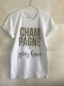 Champagne Fun Text Unisex Style T-Shirt Day Drinking Party Shirt