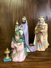 Roman Christmas Three Kings First Blessing Candle Holder 1997 Figurine