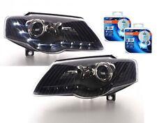 LED Standlicht Scheinwerfer für VW PASSAT 3C B6 05-10 schwarz + 2x Osram H7 CBI