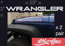 "Jeep WRANGLER Hood Decals Stickers Graphics Rubicon TJ JK CJ YJ 2 - 23"""