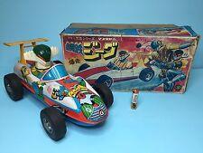 "Vintage 70s Masudaya BIG Friction Tin Car ""JEEG GEAG"" Modern Toys popy bullmark"