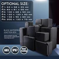 Schwarz ABS Kunststoff Electronic Gehäuse Box Wasserdicht Projekt Box