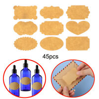 Candy Tags Creative Labels Stickers Packaging Seals Kraft Paper Blank Sticky