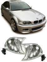PAIR OF CLEAR INDICATORS FOR BMW E46 3 SERIES FACELIFT COUPE & CONVERTIBLE + M3