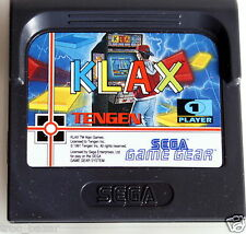 cartouche SEGA game gear KLAX+notice