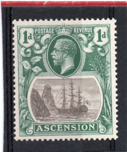 Ascension GV  1924-33  1d grey-black & dp.blue-green sg 11 LH.Mint