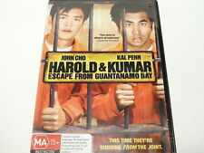 "HAROLD AND KUMAR ESCAPE FROM GUANTANAMO BAY, COMEDY DVD R4 ""preowned"" AUZ SELLER"