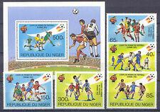 El fútbol WM 1982-níger - 767-771, bl.34 ** mnh