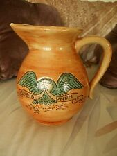 GORGEOUS PENNSBURY POTTERY PA. EAGLE & SHIELD SHEILD 32oz PITCHER