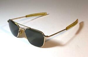 Vintage American Optical AO 12K GF Gold Aviator Sunglasses 5 1/2