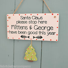 Santa Claws novelty cat lover plaque