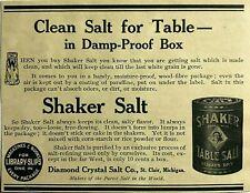 1900's 1911 Ad Diamond Crystal Salt Co St. Clair Michigan MI Damp Proof Box