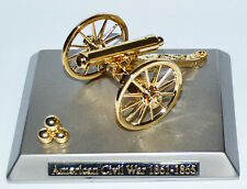 American Civil War Boxed Artillery Napoleon Cannon On Metal Base 11 x 9cms