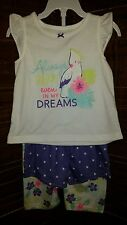 NWT CARTER'S GIRLS 3-PIECE SLEEPWEAR SET PAJAMAS SIZE 24 MONTHS